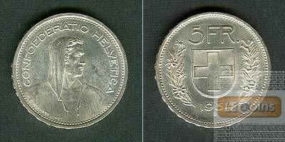 SCHWEIZ 5 Franken 1954 B  vz-stgl.