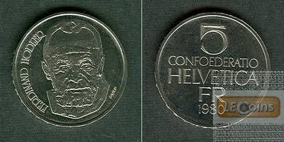 SCHWEIZ 5 Franken 1980  Ferdinand Hodler  stgl.
