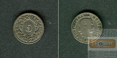 SCHWEIZ 5 Rappen 1879 B  s+