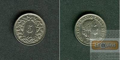 SCHWEIZ 5 Rappen 1945 B  ss-vz