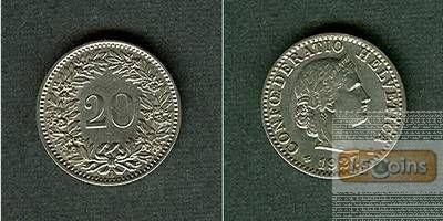 SCHWEIZ 20 Rappen 1927 B  vz-