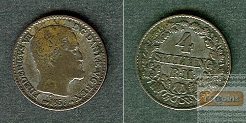 DÄNEMARK 4 Skilling 1856 VS  ss