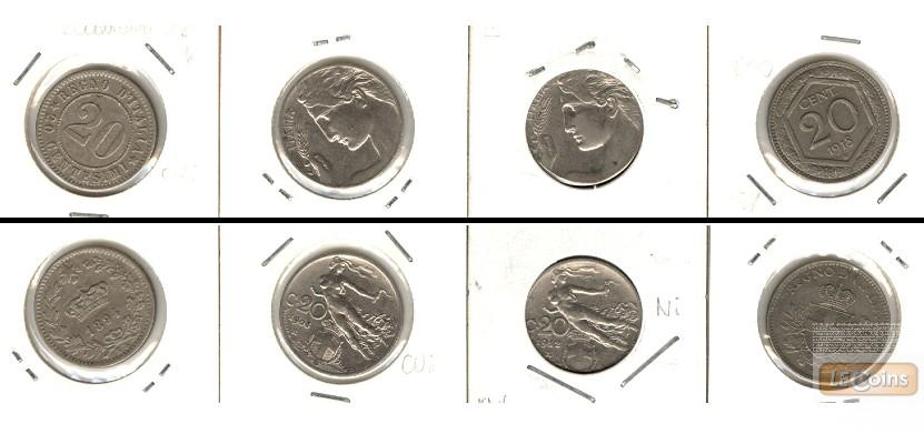 Lot:  ITALIEN 4x Münzen 20 Centesimi  [1894-1918]