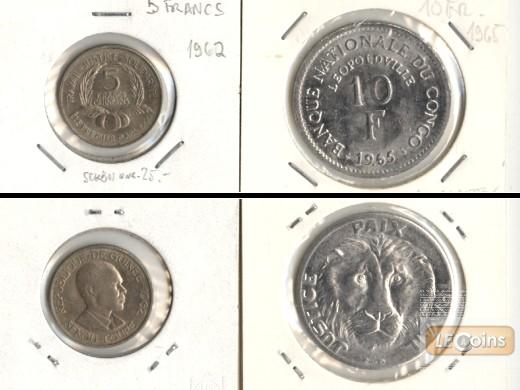 Lot:  AFRIKA 2x Münzen  Kongo + Guinea  [1962-1965]