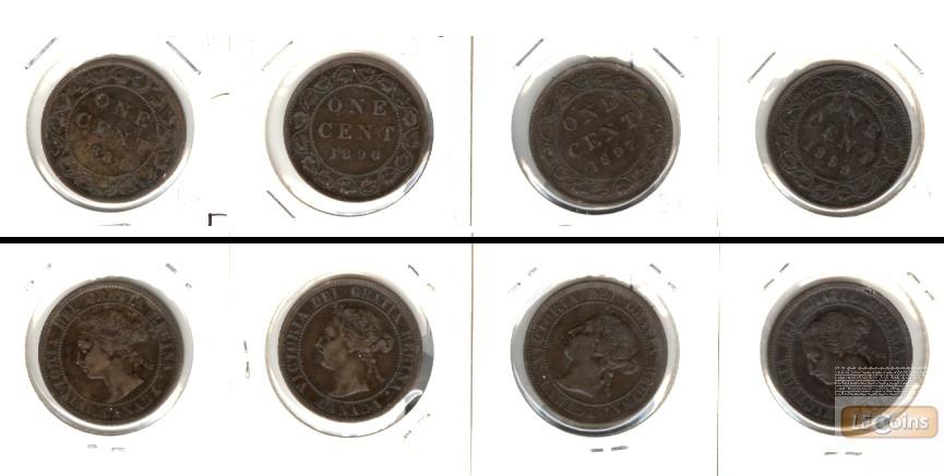 Lot:  CANADA / KANADA 4x Münzen  1 Cent  [1884-1899]