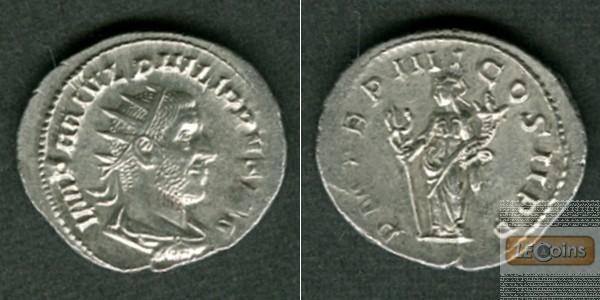 Marcus Julius PHILIPPUS I. Arabs  Antoninian  dated  vz  [247]