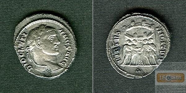 Caius Valerius DIOCLETIANUS  Silber Argenteus  f.vz  selten  [294-297]
