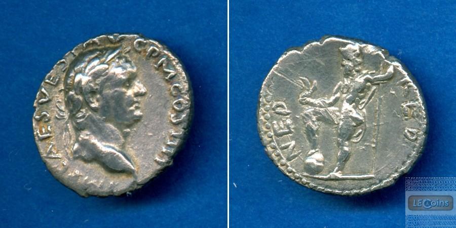Titus Flavius VESPASIANUS  Denar  f.vz  selten  [72-73]