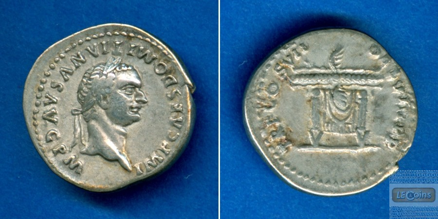 Titus Flavius DOMITIANUS  Denar  ss-vz  selten  [81]