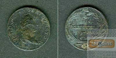 Österreich Ungarn RDR 1 Kreutzer 1790 S vz