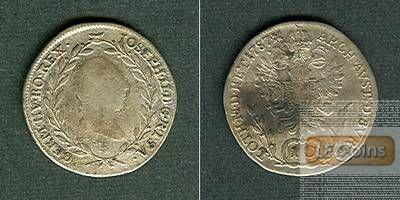 Österreich RDR 10 Kreuzer 1787 B (Ungarn)  s-ss