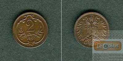 Österreich Kaiserreich 2 Heller 1907  stgl.