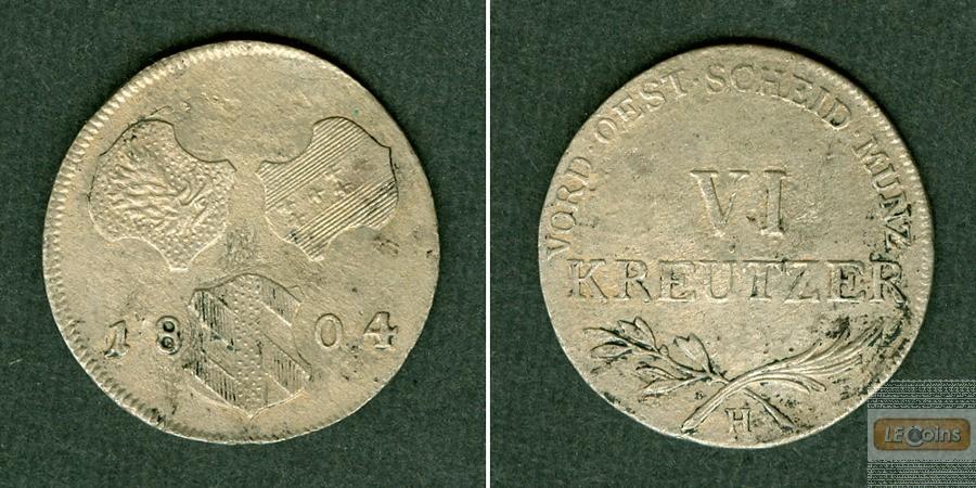 Österreich RDR 6 Kreuzer 1804 H (Günzburg)  ss-vz