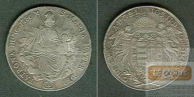 Österreich Ungarn RDR 1/2 Taler 1786 A  ss/ss-vz