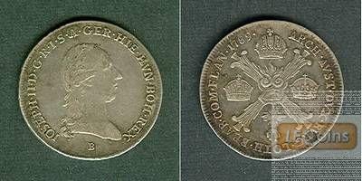 Österreich Niederlande RDR 1/4 Taler 1789 B  ss-vz