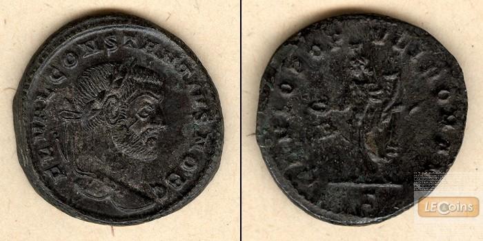Flavius Valerius CONSTANTIUS I. (Chlorus)  Groß-Follis  f.vz/ss-vz  [296-297]
