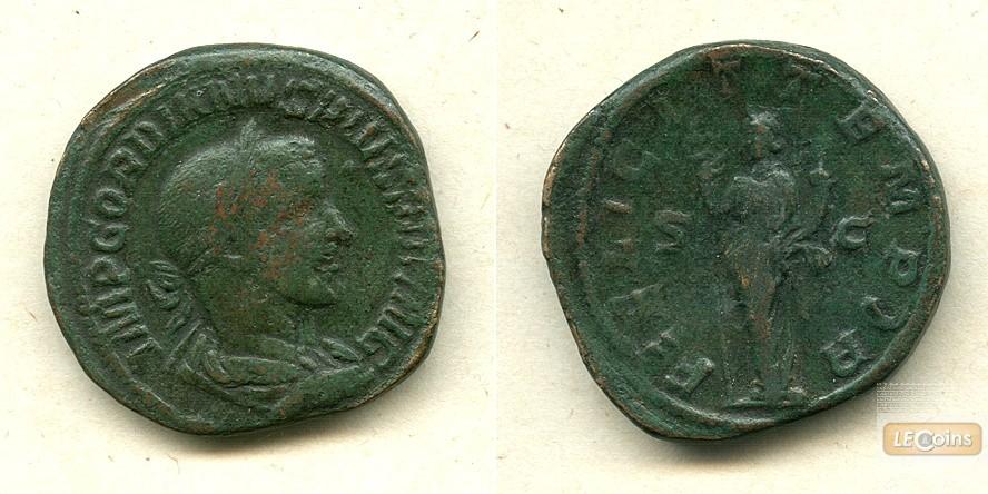 Marcus Antonius GORDIANUS III. Pius  Sesterz  ss  [241-244]