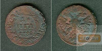 Russland 1/2 Kopeke (Denga) 1738  s-ss