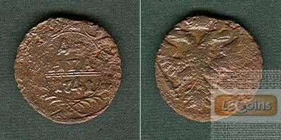 Russland 1/2 Kopeke (Denga) 1741  s  selten