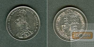 Großbritannien One Shilling 1887  vz+/f.stgl.