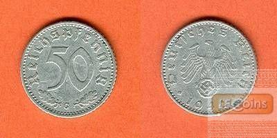 DEUTSCHES REICH 50 Reichspfennig 1942 G (J.372)  ss+