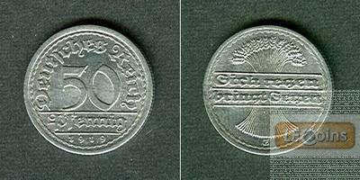 DEUTSCHES REICH 50 Pfennig 1919 E (J.301)  vz-st  selten