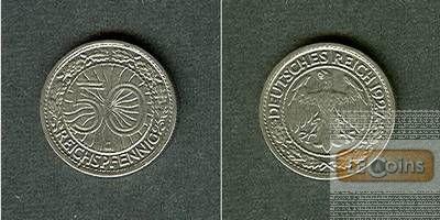 DEUTSCHES REICH 50 Reichspfennig 1927 G (J.324)  ss-vz
