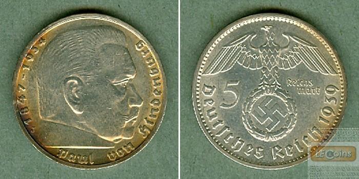 DEUTSCHES REICH 5 Reichsmark 1939 J (J.367)  vz-st