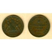Baden 1 Kreuzer 1871  Siegeskreuzer Friedensfeier  ss  selten
