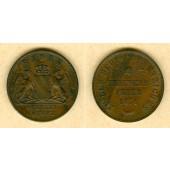 Baden 1 Kreuzer 1871  Siegeskreuzer Friedensfeier  ss-vz  selten