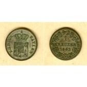 Bayern 1 Kreuzer 1843  ss-vz