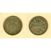 Bayern 1 Kreuzer 1858  vz-st  VERPRÄGUNG  selten