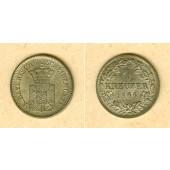 Bayern 1 Kreuzer 1866  f.st/st