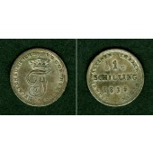 Mecklenburg Schwerin 1 Schilling 1835  vz  selten