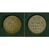 Mecklenburg Schwerin 1/48 Taler 1855 A  vz-st