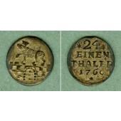 Anhalt Bernburg 1/24 Taler (Groschen) 1760  vz