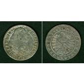 Schlesien Liegnitz Brieg 15 Kreuzer 1663  f.ss