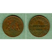 Nassau 1 Pfennig 1859  ss-vz