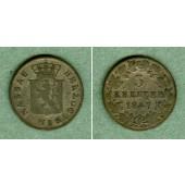 Nassau 3 Kreuzer 1847  f.ss