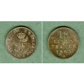 Mecklenburg Schwerin 1/48 Taler 1863  f.st