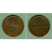 Mecklenburg Schwerin 2 Pfenninge 1831  ss+  selten