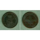 Mecklenburg Schwerin 2 Pfenninge 1872 B  ss-vz