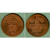 Hessen Kassel 1/2 Kreuzer 1826  ss+
