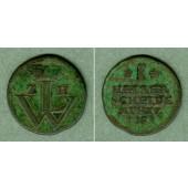Hessen Kassel 1 Heller 1755  f.ss