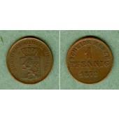 Hessen Darmstadt 1 Pfennig 1872  f.vz