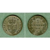 Hessen Darmstadt 3 Kreuzer 1838  f.ss