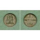 Hamburg Sechsling 1851  ss+