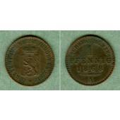 Reuss jüngere Linie 1 Pfennig 1868 A  ss+