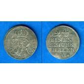 Preussen 1/24 Taler 1752 A  Sterne VARIANTE  f.vz