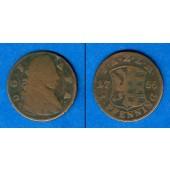 Anhalt Zerbst 1 Pfennig 1766  s/ss